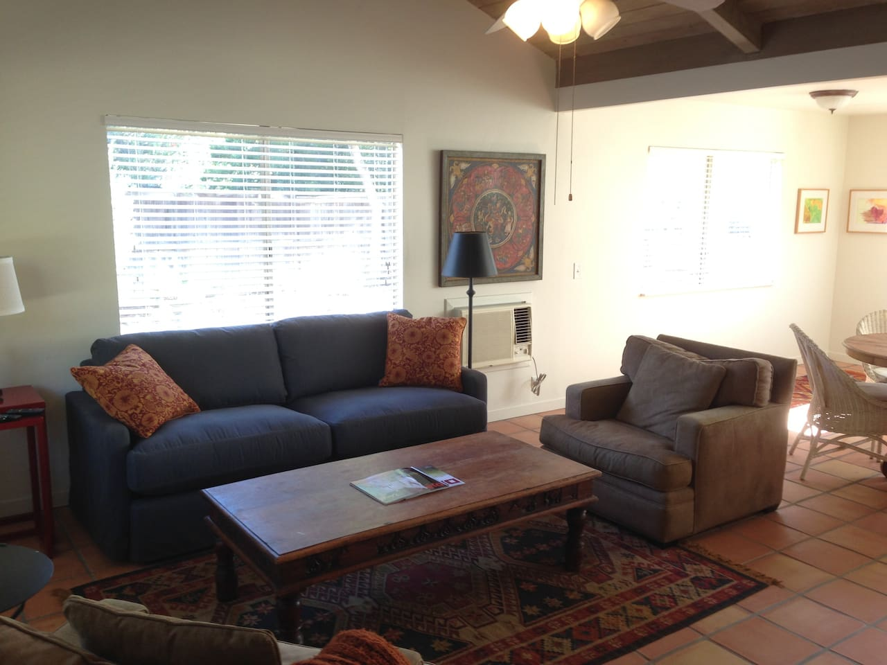Open spacious floor plan. sofa converts to queen sleeper