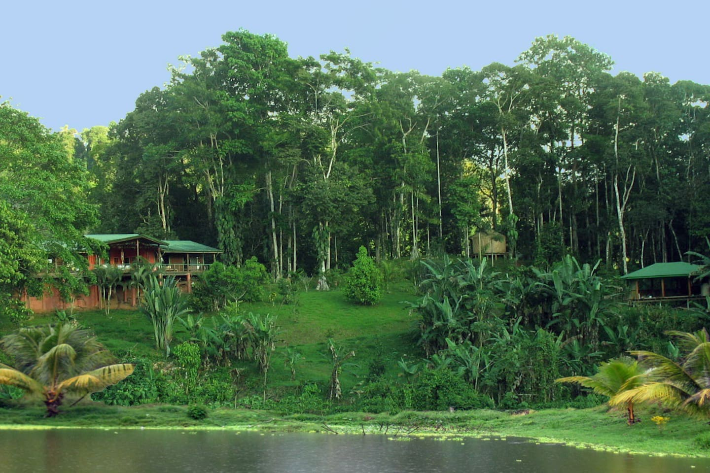 Mountain home outside Dominical, Costa Rica. We have a new yoga studio! (visible on the right)