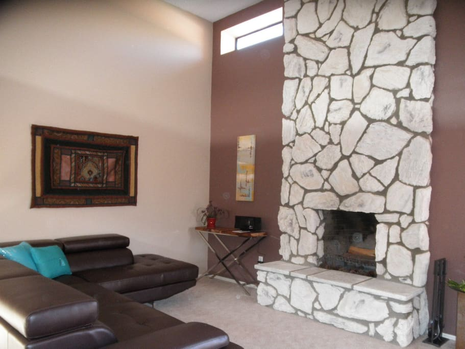 Another view of second living room area.