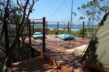 Incredible sea view tented camp