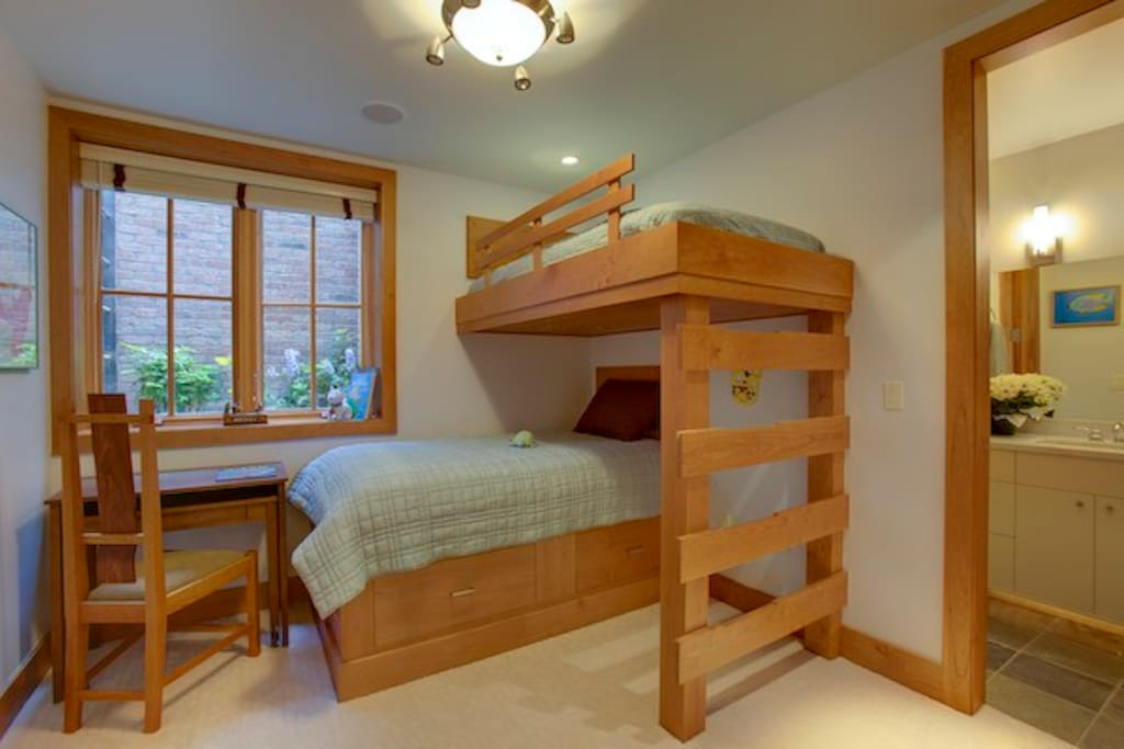 Triplet Room (incorrect furniture - we've made the bottom bunk into a full bed)