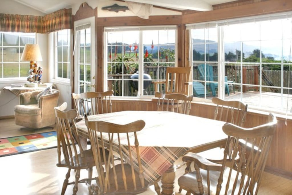 Ocean & Pasture Views from the Dining Area