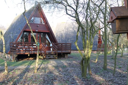 Cute wooden lodge by Grafham Water - Hus