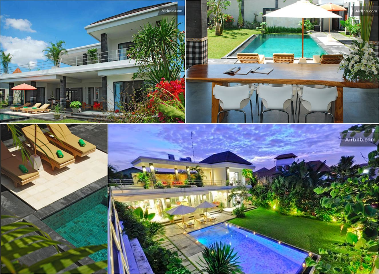 Modern villa situated in tropical garden providing excellent B&B services.