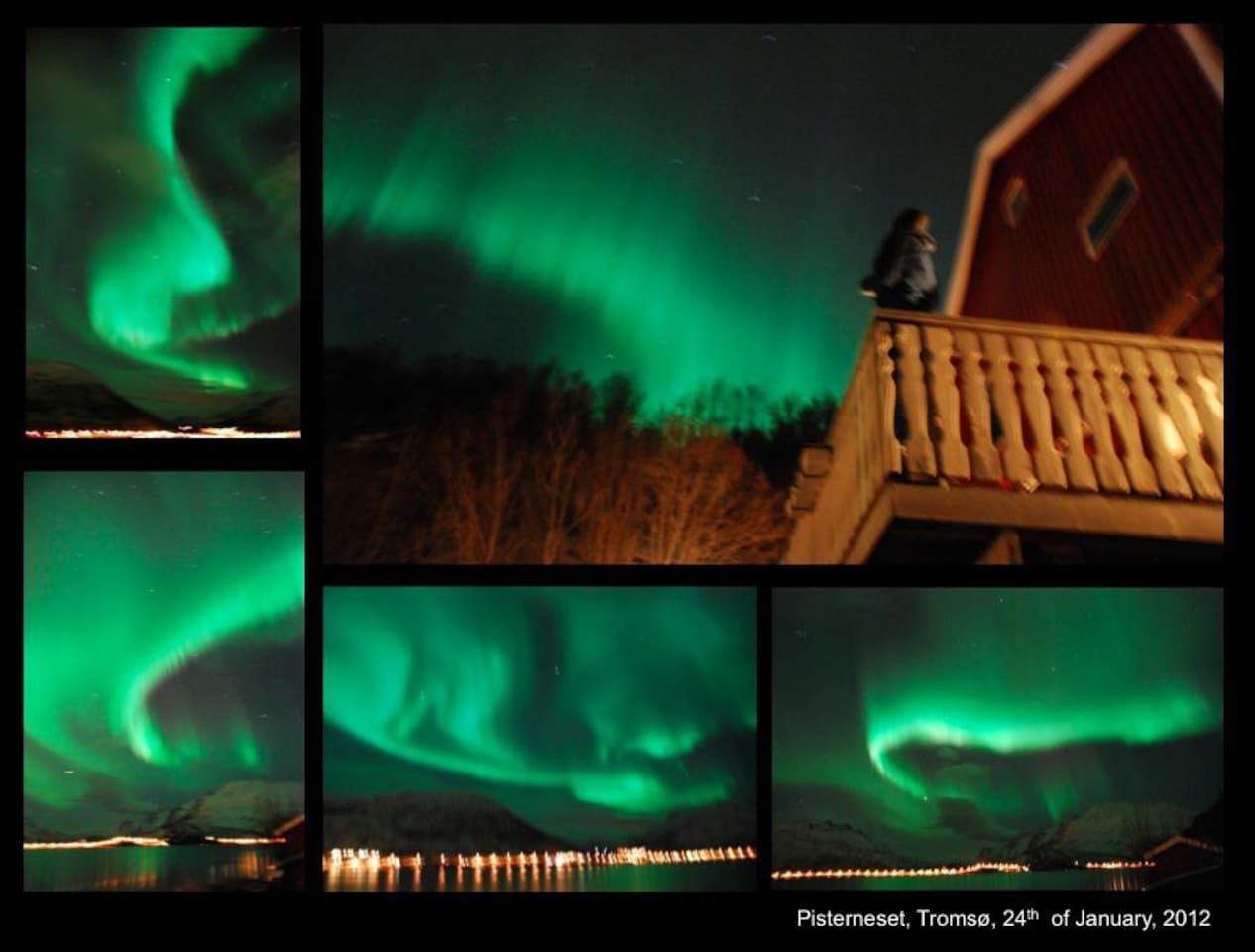 Northern lights from apartment - photos taken by a tenant