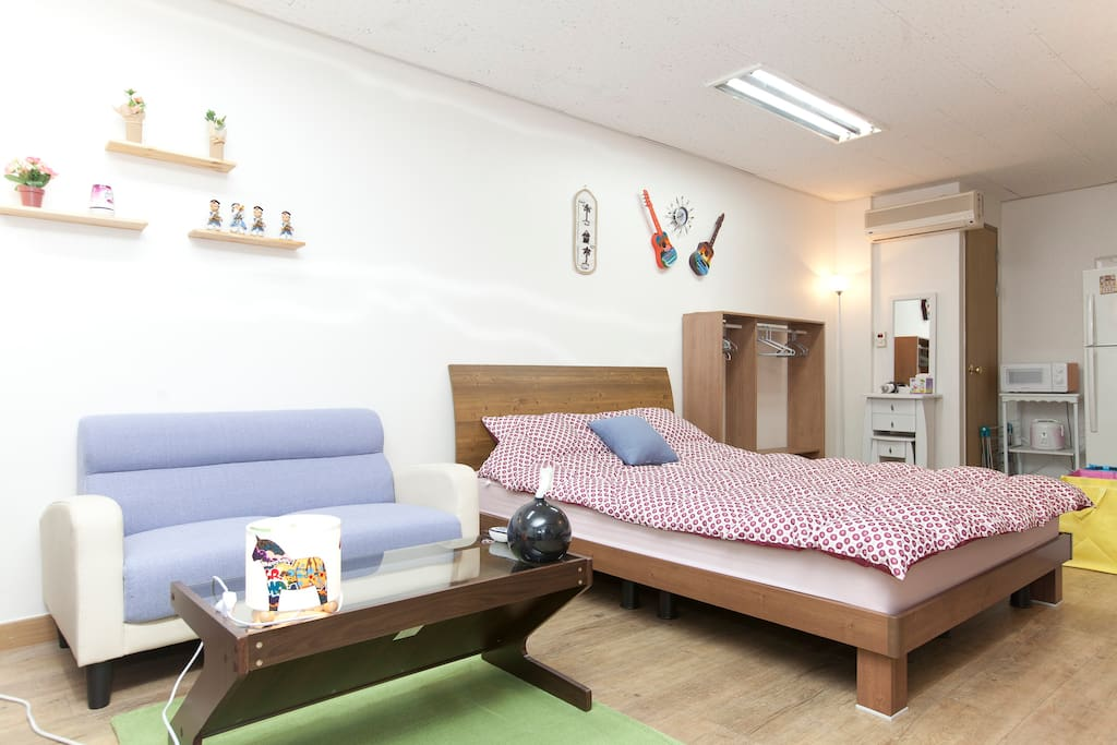 5min from seoul station.2Queen Beds