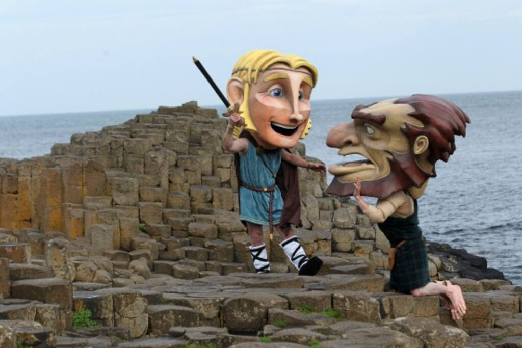 Locals having fun at Giants Causeway