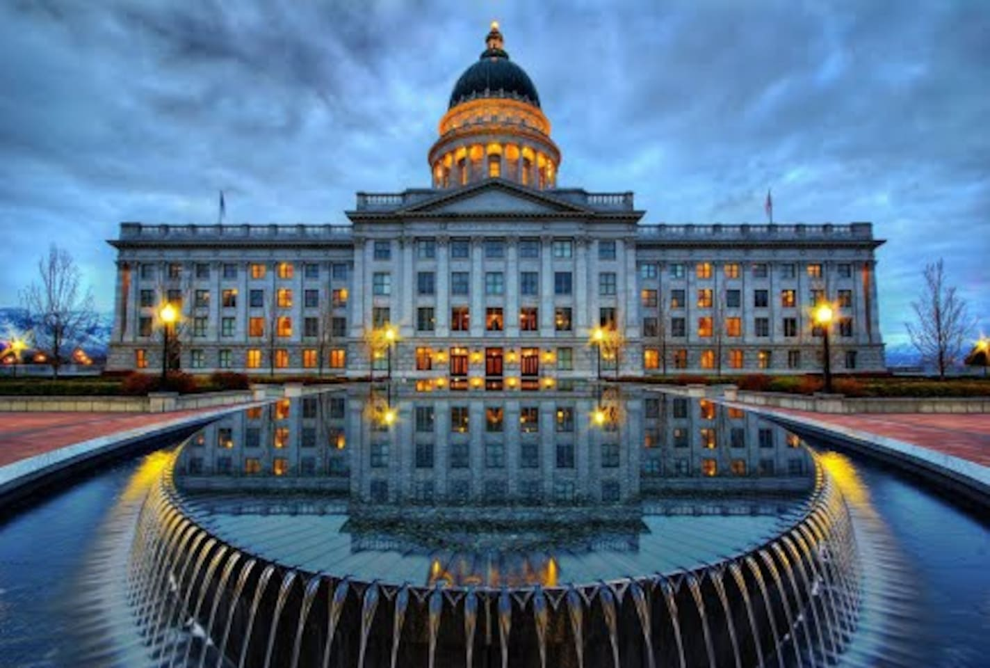 Walk across the street to visit our State Capitol Building.