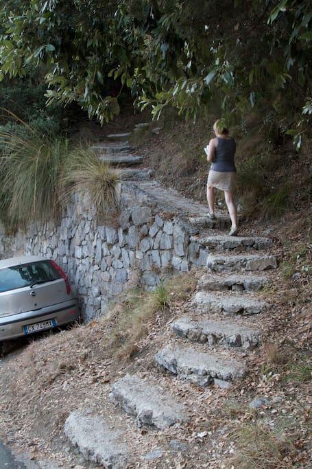 the path to Colle dell'ara