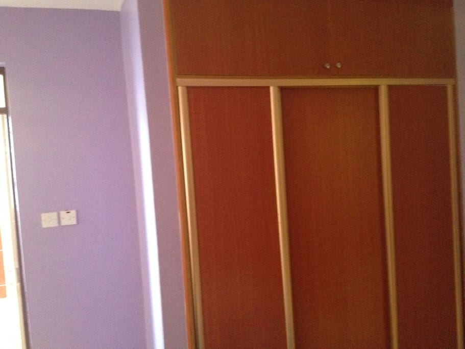 wardrobes in the room