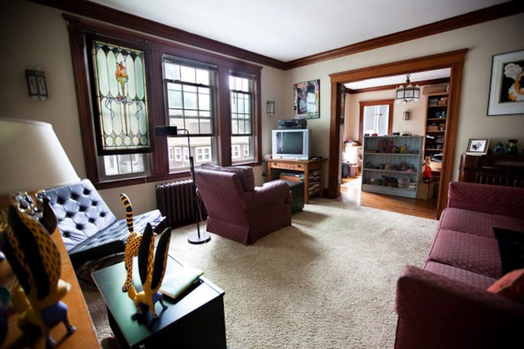 Here is a wide-angle lens view of the living room.