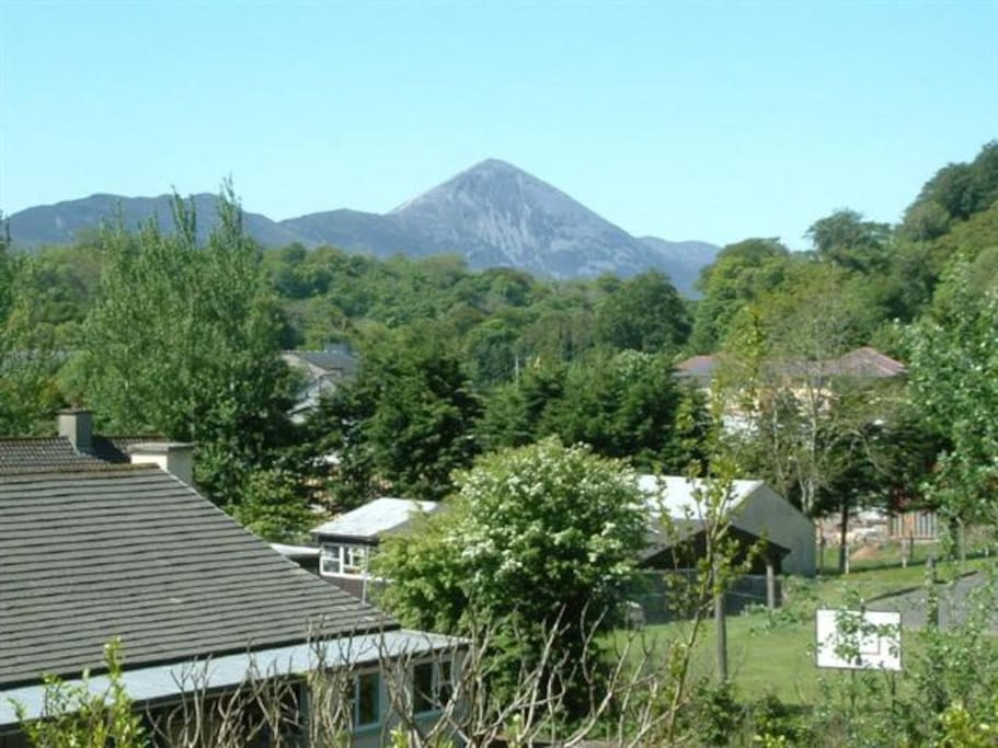 Croagh Patrick as seen from garden