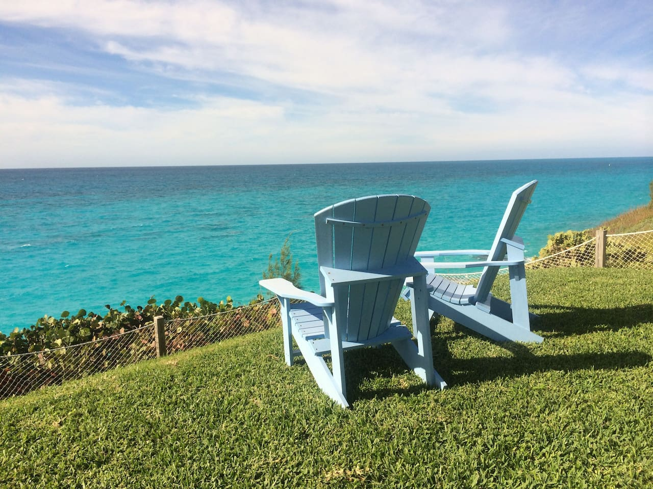 Relax and watch the Bermuda longtails, count the fishing fleet in and out or spot fish darting between the reefs.