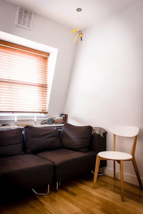 The lounge with Muji sofa.