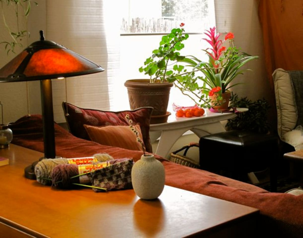 Living room- small, cosy.