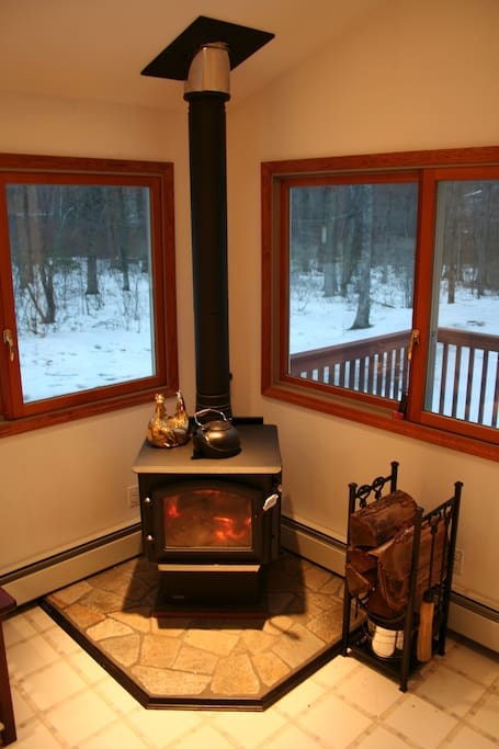 Cozy Wood Burning Stove & Hearth