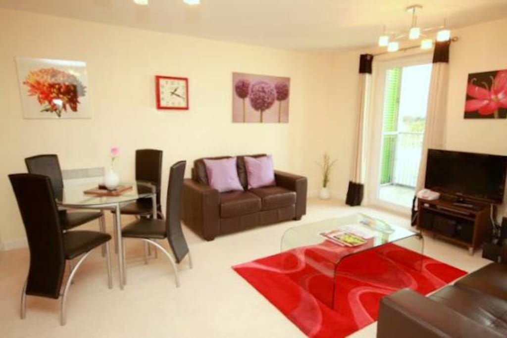 Each one bedroom apartment has a spacious living and dining area