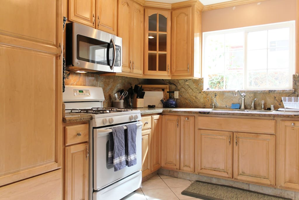 Large kitchen with everything you need to cook and serve a feast