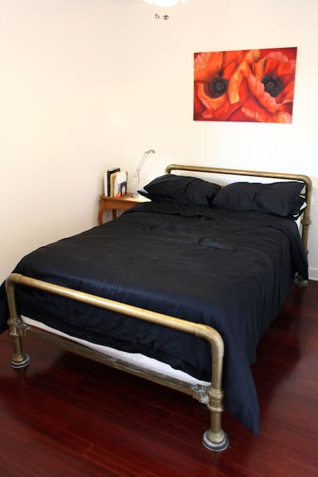Sturdy solid brass double/full sized bed.