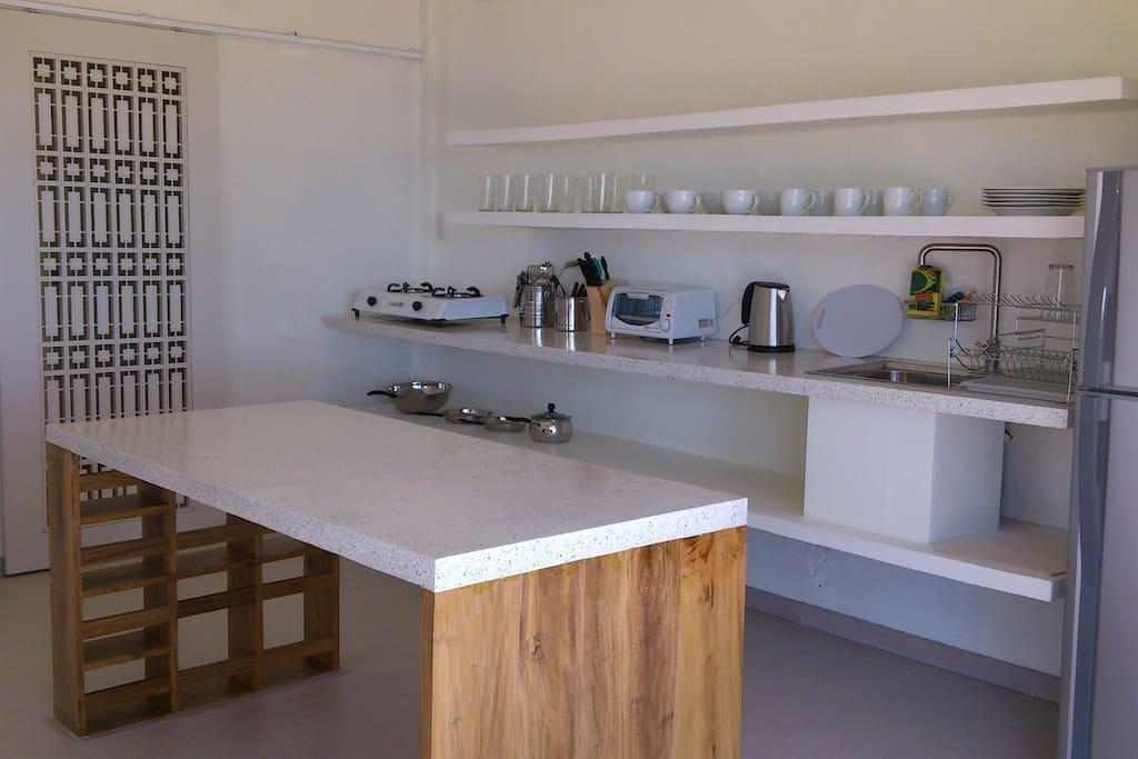 Open plan kitchenette