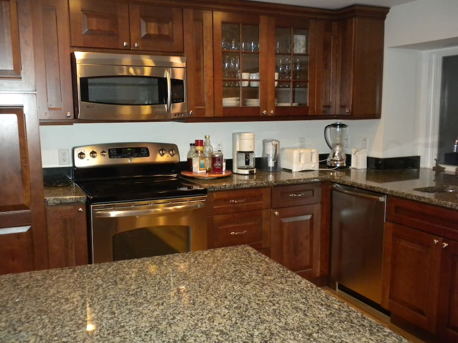 All new appliances, (2013) with granite counters throughout kitchen.
