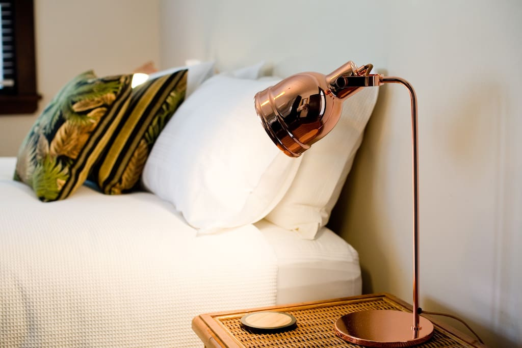 Relax in beautiful sheets with a coffee/tea and a good book.