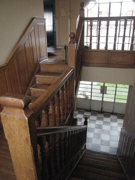 Staircase leading downstairs.