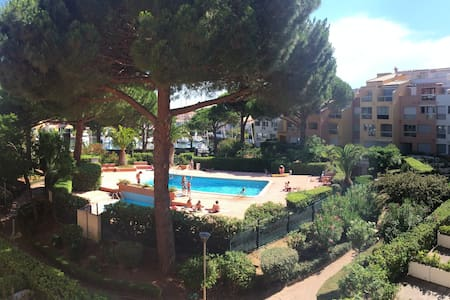 studio vue port piscine parc CAP D AGDE - Apartment