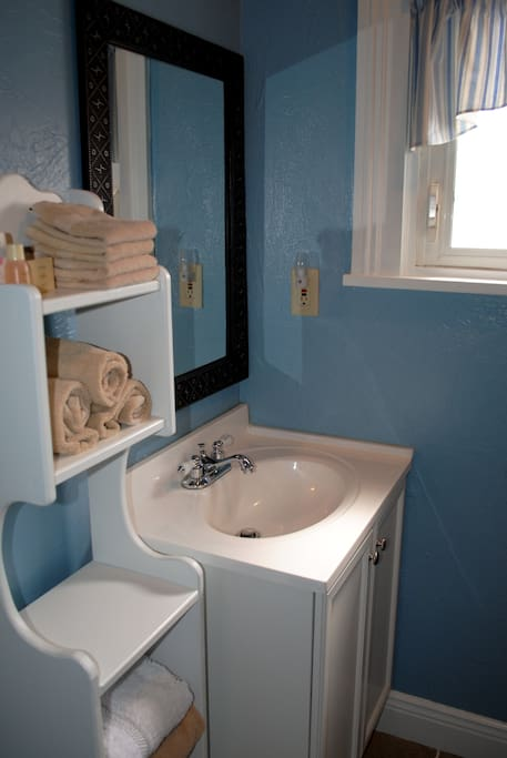 All linens and paper products are provided in your private, en suite bath.