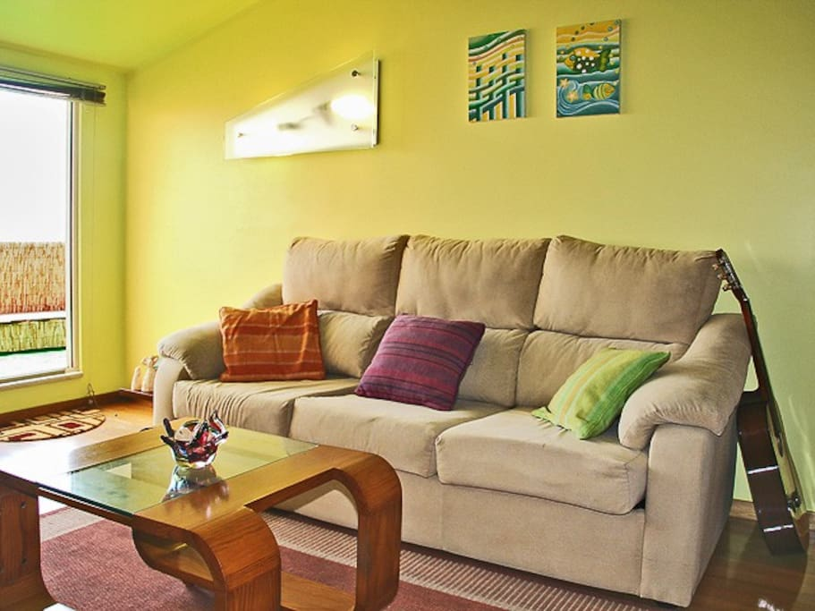 Family room with double sofa bed, comfortable enough for up to 3 people sitting