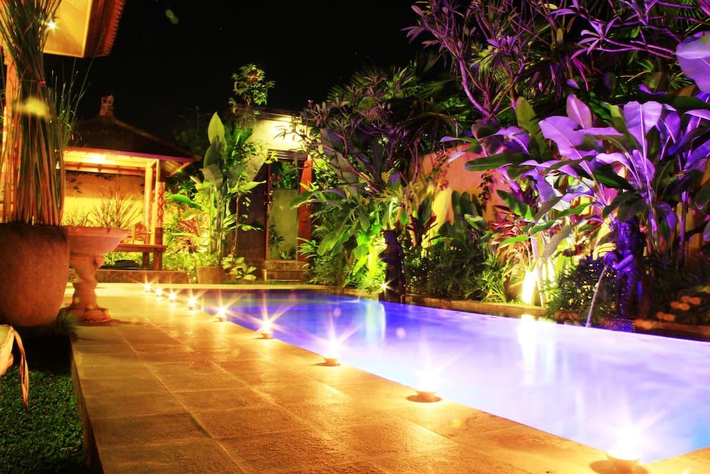 Night in the Swimming Pool