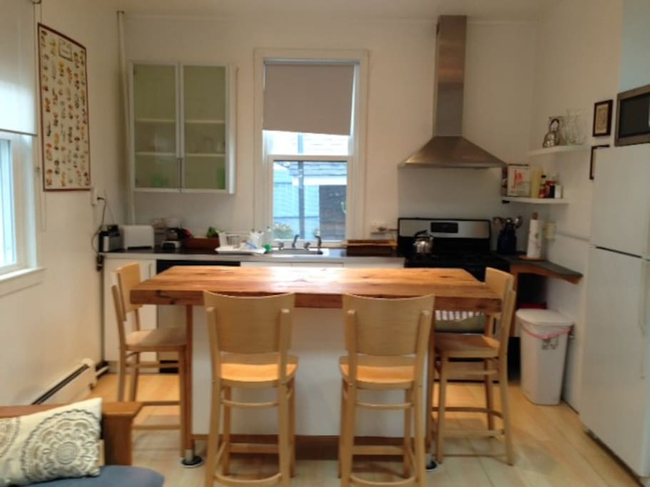 Kitchen and butcher block table