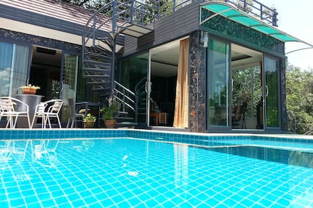 PATONG WONDERFUL VILLA 4 BEDRS POOL 8 guests maxi - Patong beach kathu - Villa