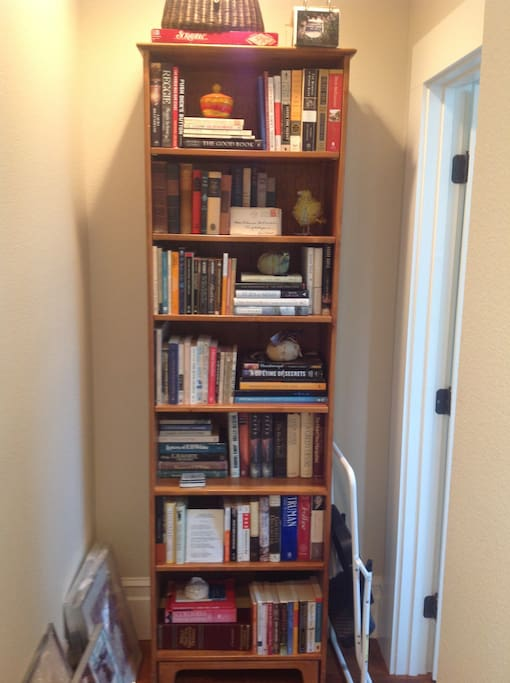 If you like to read, I have lots of wonderful books to choose from on your way to your private master suite from the hallway!