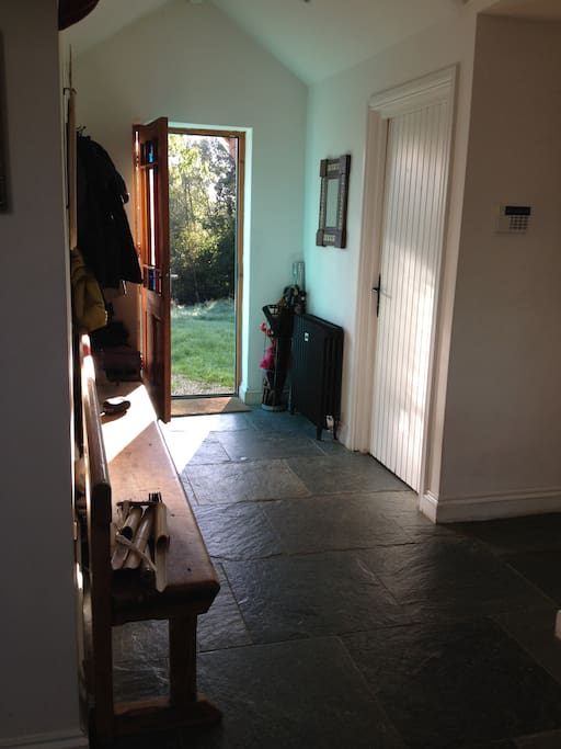Back door onto hall