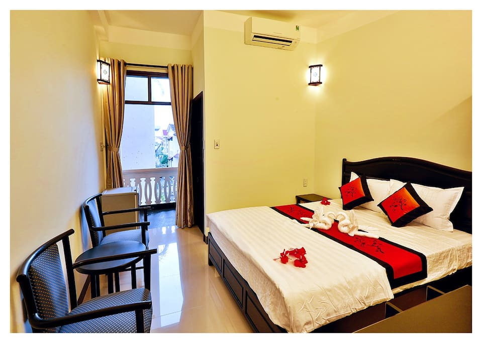 A double room with breakfast