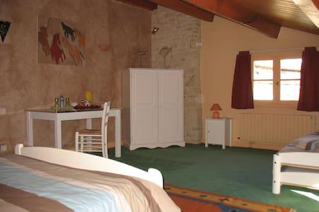 Chambre familiale Marais Poitevin - Maison