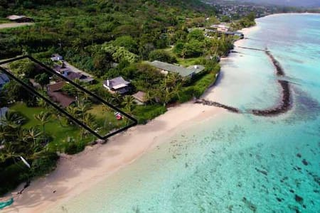 Beachfront cottage - Waimanalo - Hus