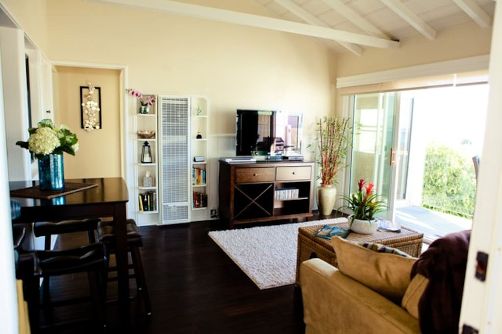 Main living area and dining area.