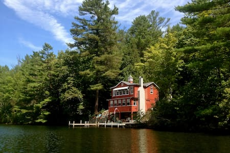Wonderful Rustic Lakefront Cottage - Fairlee - Cabin