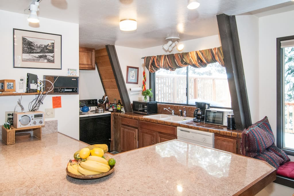 Spacious Kitchen with Large Breakfast Bar
