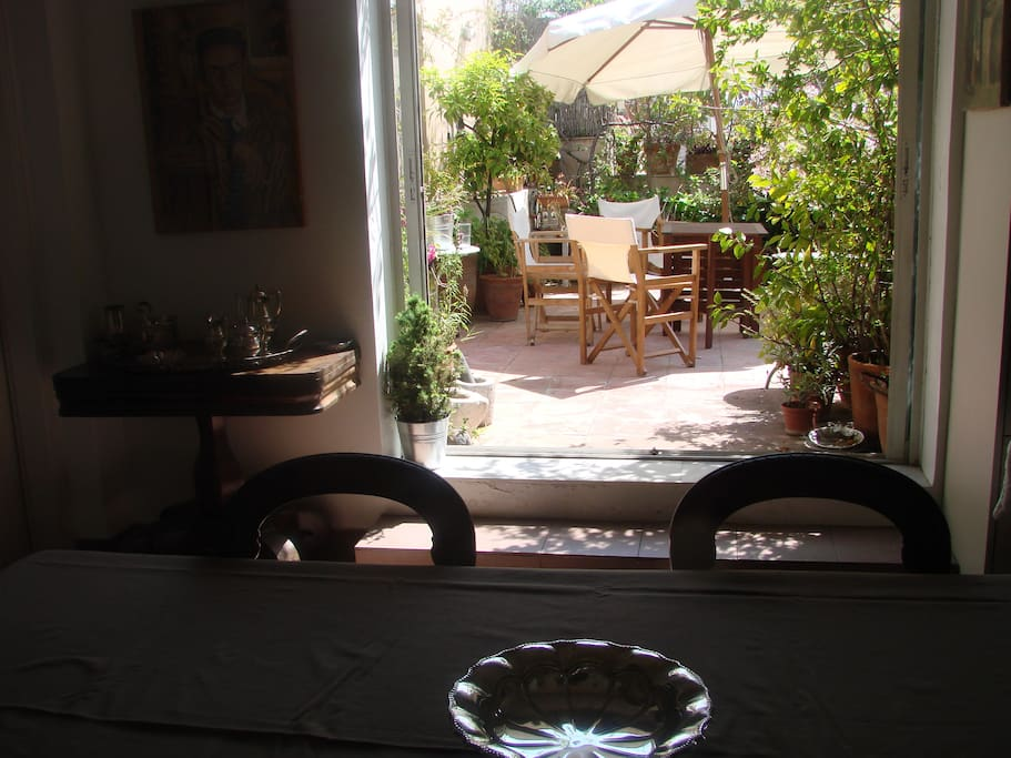 From the kitchen/dining room to the western veranda
