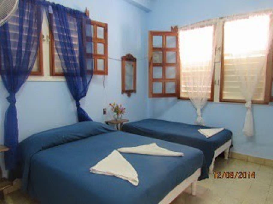 Camera da letto 2 (letto matrimoniale + letto singolo)