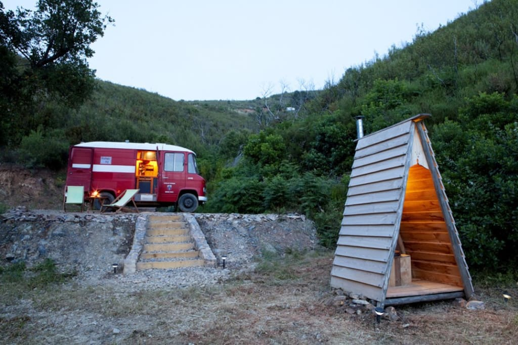 The private ecological toilet of the firevan.