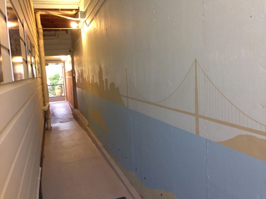 walkway to your room