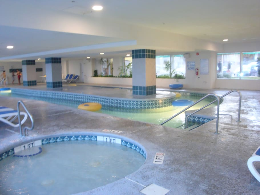 Indoor pools, Jacuzzi, and lazy river