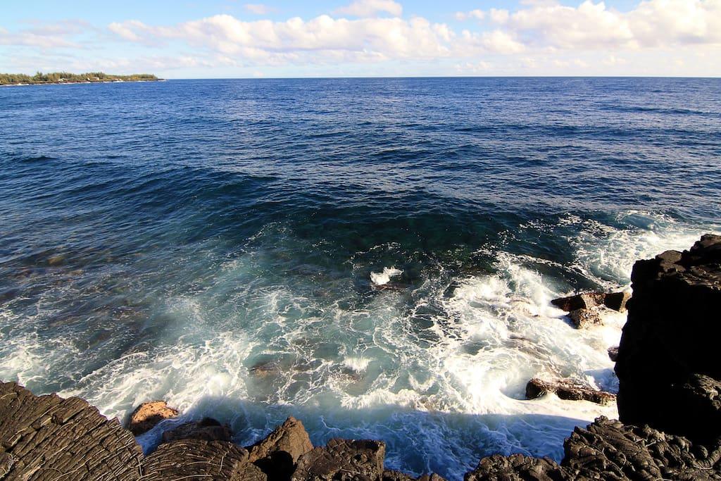 Ocean in front of property