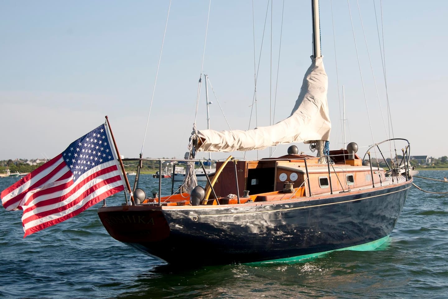 Located on a private mooring in Nantucket Harbor