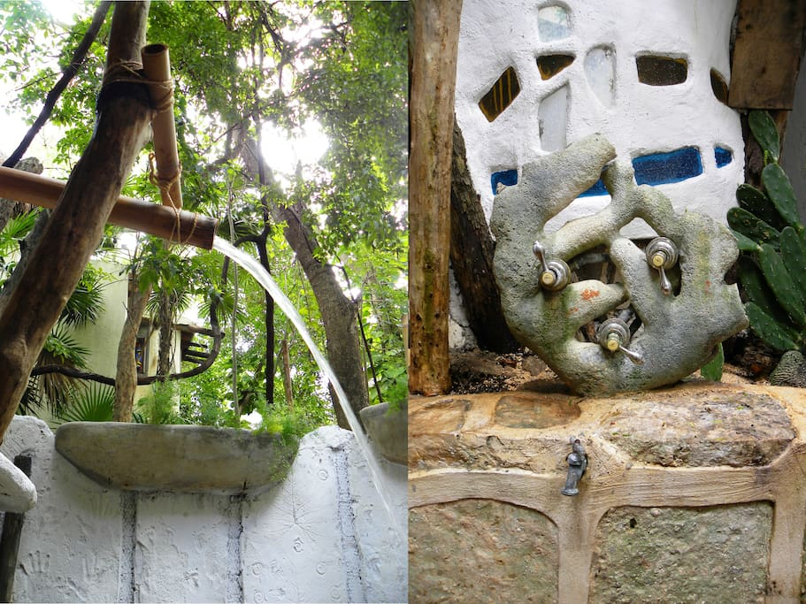private roofless shower / regadera tropical sin techo privada