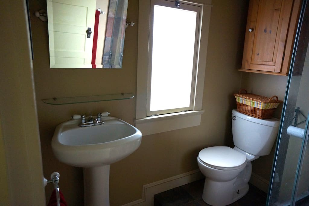 Private bathroom, very clean with amenities
